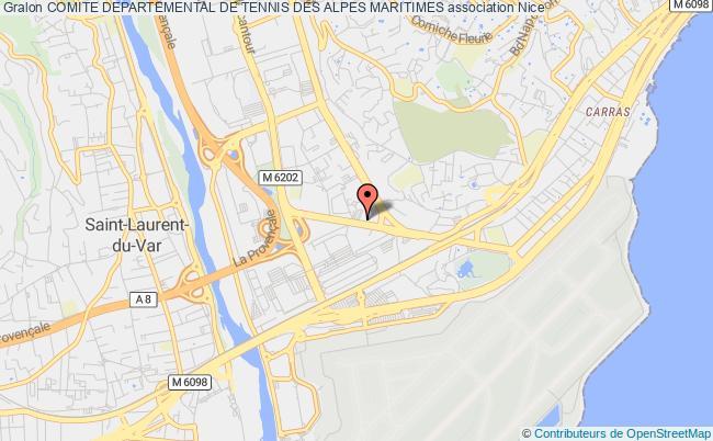 plan association Comite Departemental De Tennis Des Alpes Maritimes Nice