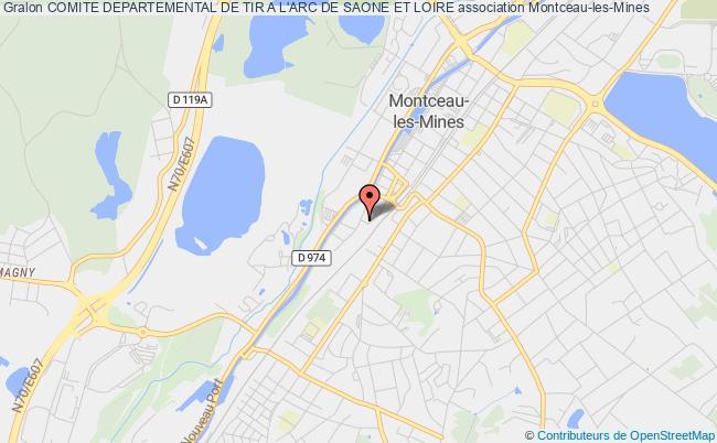 plan association Comite Departemental De Tir A L'arc De Saone Et Loire