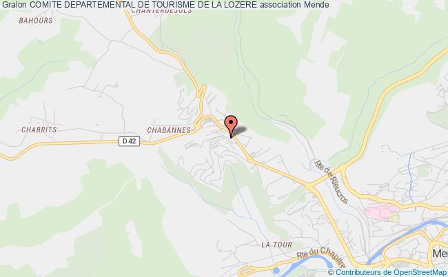 plan association Comite Departemental De Tourisme De La Lozere
