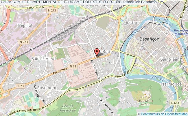 plan association Comite Departemental De Tourisme Equestre Du Doubs