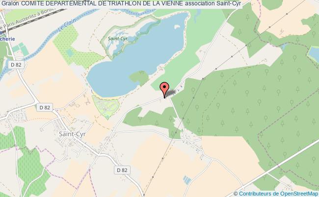 plan association Comite Departemental De Triathlon De La Vienne Beaumont Saint-Cyr