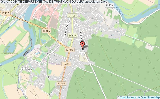 plan association Comite Departemental De Triathlon Du Jura Dole