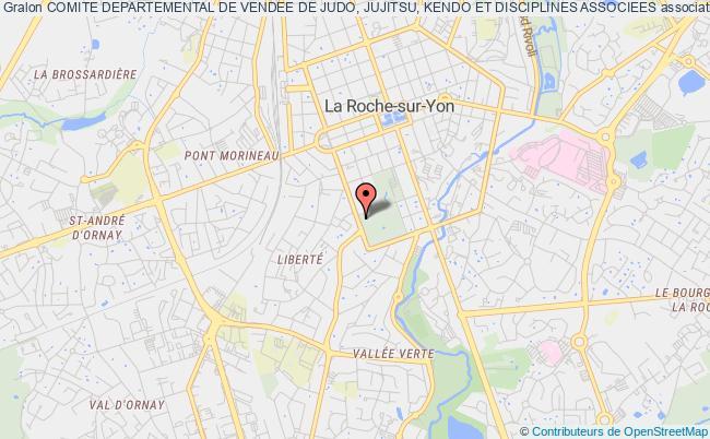 plan association Comite Departemental De Vendee De Judo, Jujitsu, Kendo Et Disciplines Associees La    Roche-sur-Yon