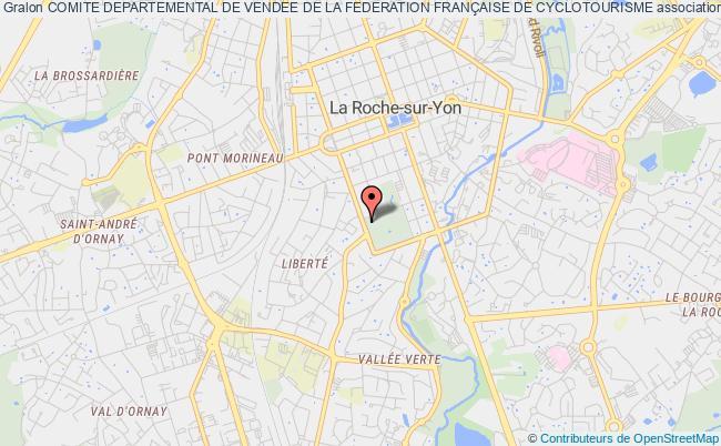 plan association Comite Departemental De Vendee De La Federation FranÇaise De Cyclotourisme La    Roche-sur-Yon