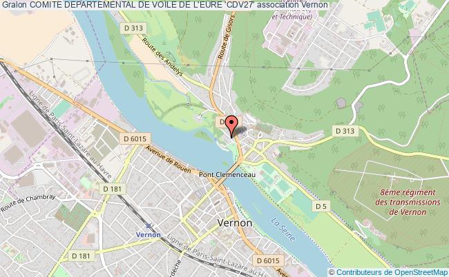 plan association Comite Departemental De Voile De L'eure 'cdv27' Vernon