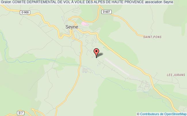 plan association Comite Departemental De Vol Voile Des Alpes De Haute Provence