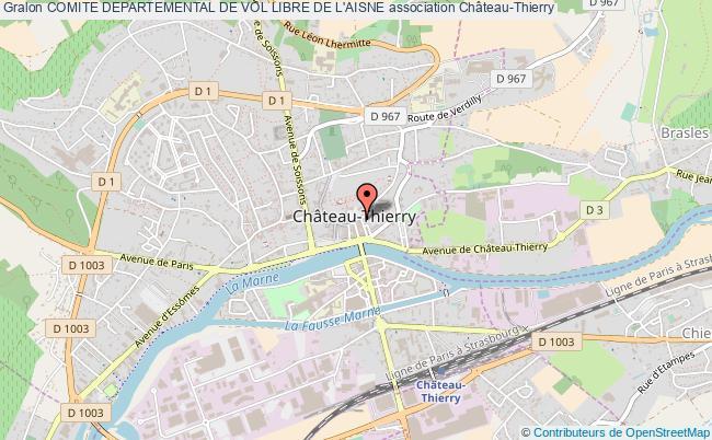 plan association Comite Departemental De Vol Libre De L'aisne