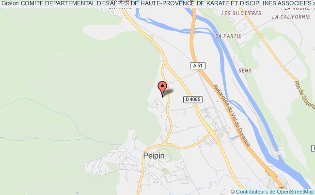 plan association Comite Departemental Des Alpes De Haute-provence De Karate Et Disciplines Associees