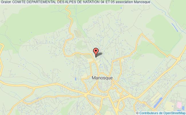 plan association Comite Departemental Des Alpes De Natation 04 Et 05