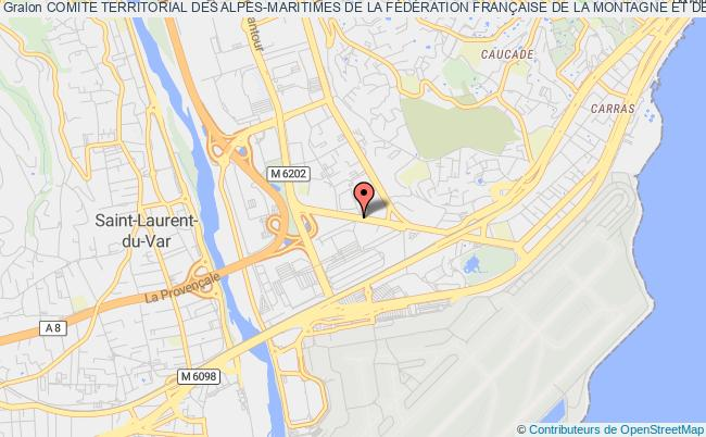 plan association Comite Departemental Des Alpes-maritimes Federation FranÇaise De La Montagne Et De L'escalade Nice