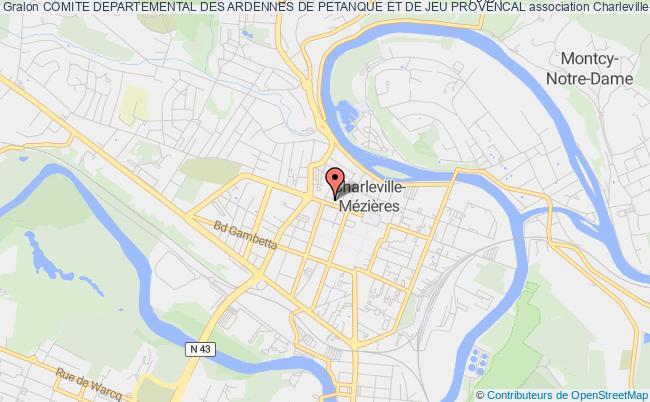 plan association Comite Departemental Des Ardennes De Petanque Et De Jeu Provencal
