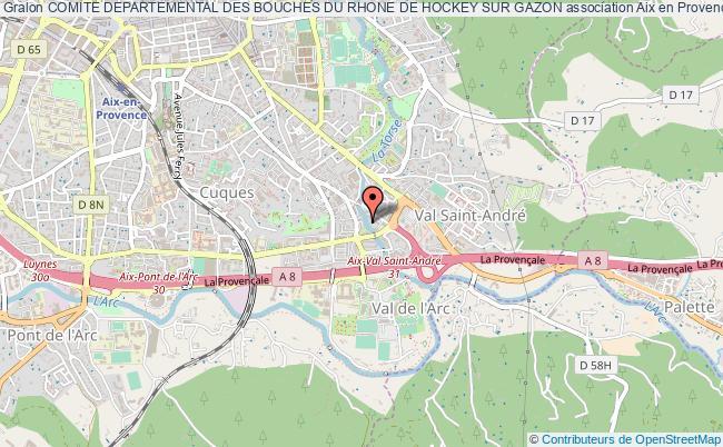 plan association Comite Departemental Des Bouches Du Rhone De Hockey Sur Gazon