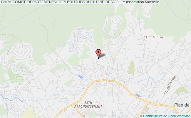 plan association Comite Departemental Des Bouches Du Rhone De Volley