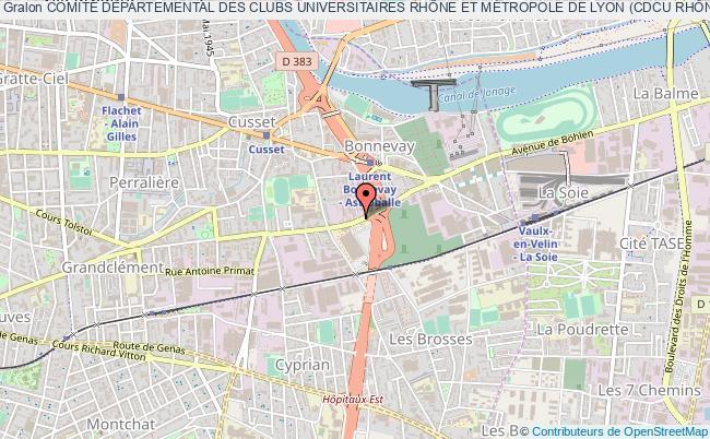 plan association ComitÉ DÉpartemental Des Clubs Universitaires RhÔne Et MÉtropole De Lyon (cdcu RhÔne Et MÉtropole De Lyon)
