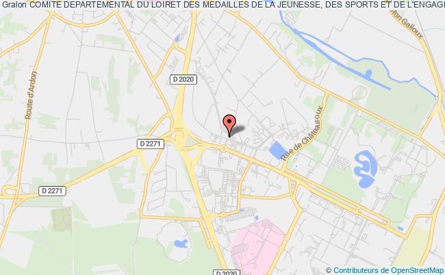 plan association Comite Departemental Des Medailles De La Jeunesse Et Des Sports Du Loiret