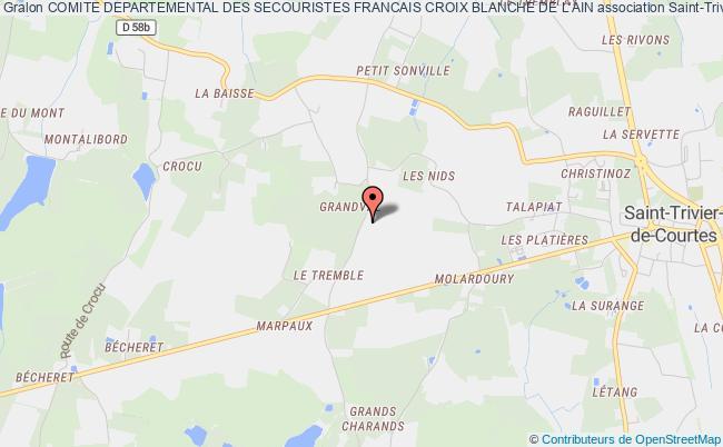 plan association Comite Departemental Des Secouristes Francais Croix Blanche De L'ain Bourg-en-Bresse