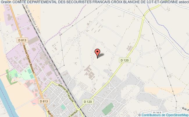 plan association Comite Departemental Des Secouristes Francais Croix Blanche De Lot-et-garonne
