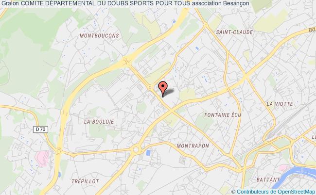 plan association Comite DÉpartemental Du Doubs Sports Pour Tous