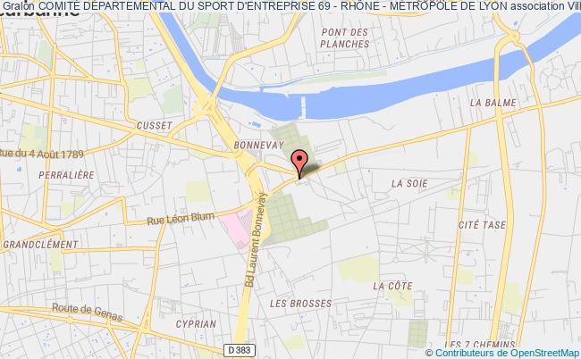 plan association ComitÉ DÉpartemental Du Sport D'entreprise 69 - RhÔne - MÉtropole De Lyon