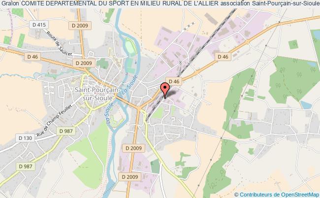 plan association Comite Departemental Du Sport En Milieu Rural De L'allier