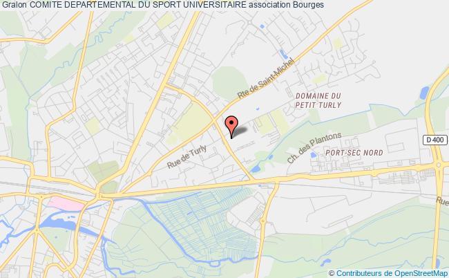 plan association Comite Departemental Du Sport Universitaire Bourges