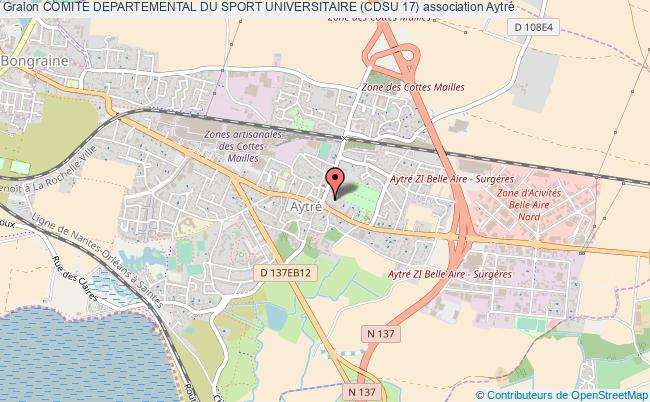 plan association Comite Departemental Du Sport Universitaire (cdsu 17) Aytré