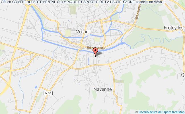 plan association ComitÉ DÉpartemental Olympique Et Sportif De La Haute-saÔne Vesoul