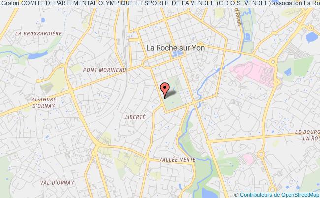 plan association Comite Departemental Olympique Et Sportif De La Vendee (c.d.o.s. Vendee) La    Roche-sur-Yon