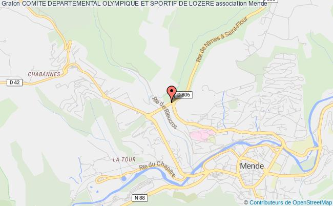 plan association Comite Departemental Olympique Et Sportif De Lozere