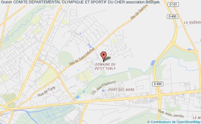 plan association Comite Departemental Olympique Et Sportif Du Cher Bourges