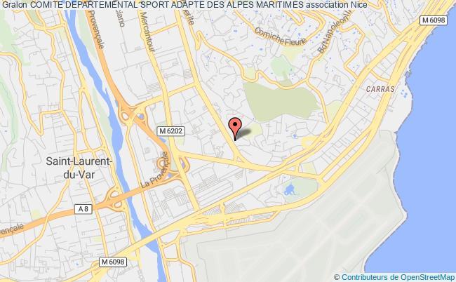plan association Comite Departemental Sport Adapte Des Alpes Maritimes Nice