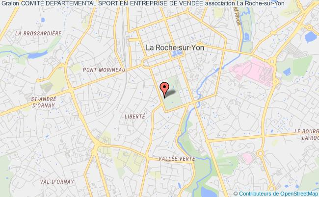 plan association ComitÉ DÉpartemental Sport En Entreprise De VendÉe LA ROCHE-SUR-YON