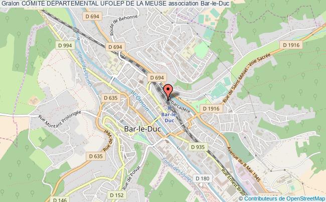 plan association ComitÉ DÉpartemental Ufolep De La Meuse