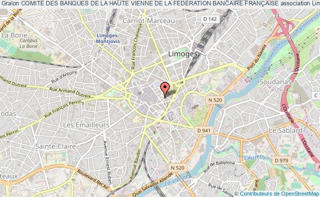 plan association ComitÉ Des Banques De La Haute Vienne De La FÉdÉration Bancaire FranÇaise