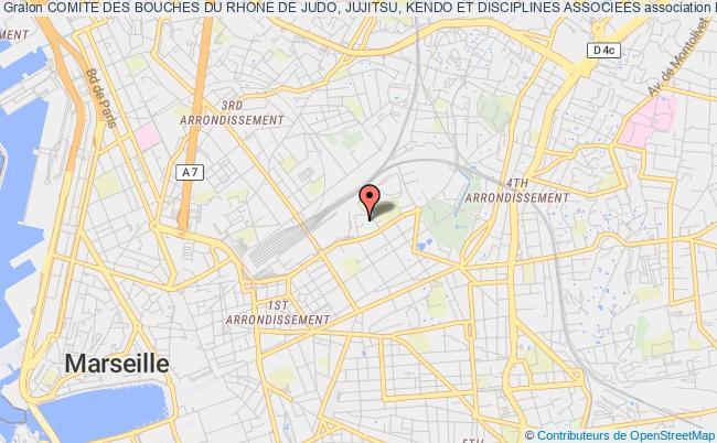 plan association Comite Des Bouches Du Rhone De Judo, Jujitsu, Kendo Et Disciplines Associees