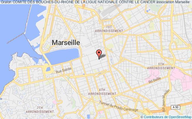 plan association Comite Des Bouches-du-rhone De La Ligue Nationale Contre Le Cancer