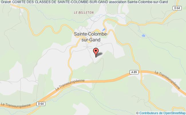 plan association Comite Des Classes De Sainte-colombe-sur-gand Sainte-Colombe-sur-Gand
