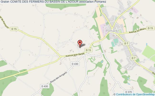 plan association Comite Des Fermiers Du Bassin De L'adour