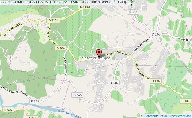 plan association Comite Des Festivites Boissetaine