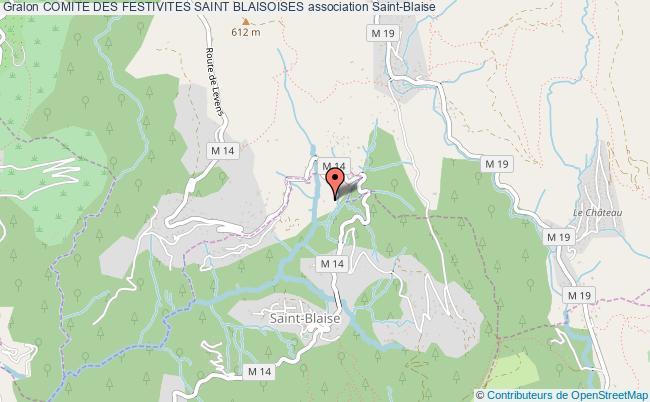 plan association Comite Des Festivites Saint Blaisoises