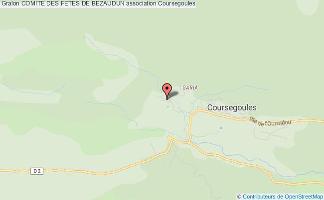 plan association Comite Des Fetes De Bezaudun Bézaudun-les-Alpes
