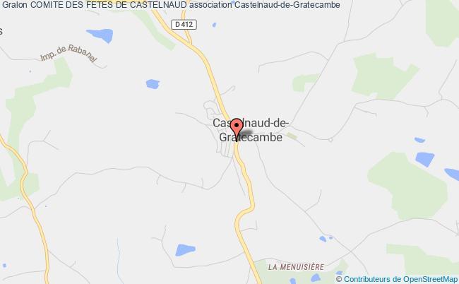 plan association Comite Des Fetes De Castelnaud Castelnaud-de-Gratecambe