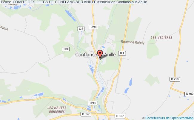 plan association Comite Des Fetes De Conflans Sur Anille