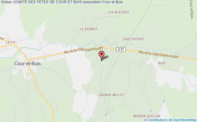 plan association Comite Des Fetes De Cour Et Buis Cour-et-Buis