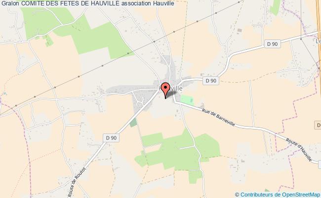 plan association Comite Des Fetes De Hauville Hauville