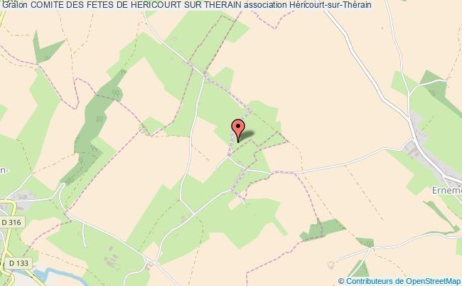 plan association Comite Des Fetes De Hericourt Sur Therain