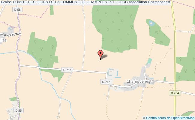 plan association Comite Des Fetes De La Commune De Champcenest - Cfcc Champcenest