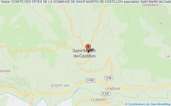 plan association Comite Des FÊtes De La Commune De Saint-martin-de-castillon Saint-Martin-de-Castillon