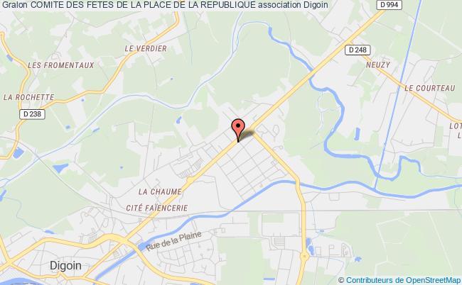 plan association Comite Des Fetes De La Place De La Republique