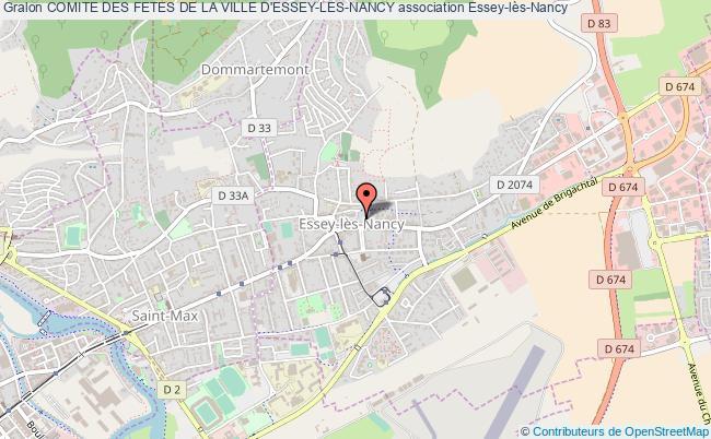 plan association Comite Des Fetes De La Ville D'essey-les-nancy Essey-lès-Nancy